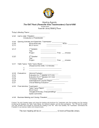 General Meeting Agenda Template by Agenda Non Profit Board Meeting Agenda Template