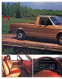 volkswagen rabbit truck thesamba com vw archives 1983 vw rabbit pickup brochure