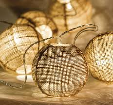 ex pro hessian ball led fairy string lights battery powered
