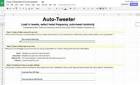 How To Create Spreadsheet How To Build A Google Spreadsheet That Auto Tweets Your Archives