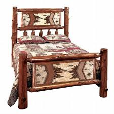 rustic cedar and aspen log beds reclaimed furniture design ideas