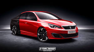 a peugeot peugeot 308 gti sedan rendering is based on a car sold in china