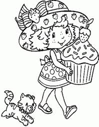 coloring pages strawberry shortcake intended for inviting cool