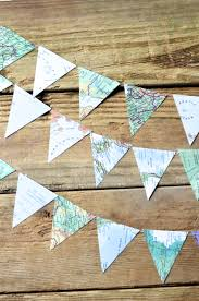 Garland Zip Code Map by Vintage Map Triangle Garland 6 8 10 15 Or 30 Feet Of Bunting