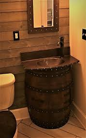 Wine Barrel Vanity Amazon Com