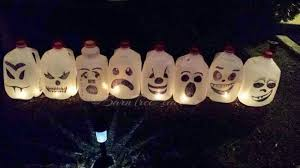 Halloween Decorations Using Milk Jugs - make your neighbors giggle with these 16 hilarious halloween ideas