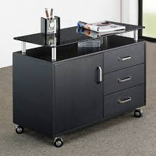 Computer Desk With Filing Cabinet by Techni Mobili Complete Computer Workstation Dark Honey Walmart Com