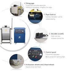 manual tilting induction melting furnace for gold silver copper