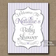 baby shower welcome sign lilac silver neutral baby shower welcome sign nifty printables