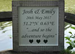 wedding gift personalised personalised wedding coordinates sign 70 00 large reclaimed