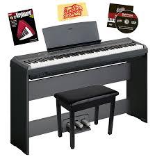 amazon com yamaha p 105 digital piano bundle with gearlux
