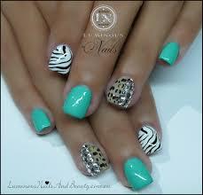 zebra print nail designs nail art