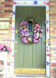 Easter Decorations Front Door by Front Doors Easter Wreaths For Front Door Ireland Easter Bunny