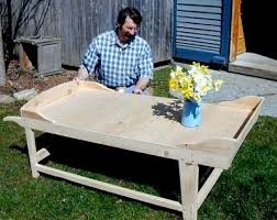 r nyw0302 sheep shearing coffee table woodworking plan featuring