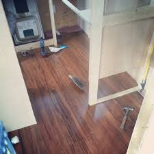 bamboo flooring plus a bit of plumbing shower installation