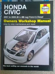 haynes manual honda civic 2001 2005 petrol and diesel and ford