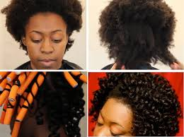 stretch 4c hair with flexi rods tutorial black hair information