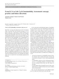 from lca to life cycle sustainability assessment concept