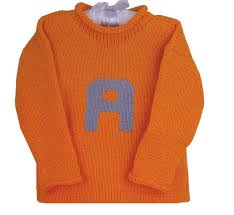 personalized knit letter sweater custom colors available