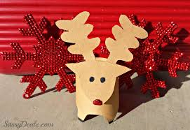 Halloween Paper Towel Roll Crafts Mini Reindeer Toilet Paper Roll Christmas Craft For Kids Crafty