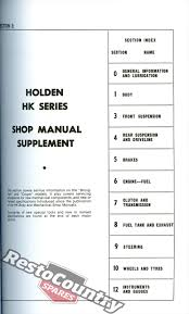 holden gmh factory hk ht hg workshop manual new repair service