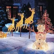 Christmas Decorations Outdoor Santa Sleigh by 61 Best Santa Sleigh And Reindeer Outdoor Decoration Images On
