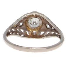 art deco diamond gold engagement ring jack weir and sons