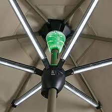 Patio Umbrellas With Led Lights Solar Powered Patio Umbrella Shade By Day And Light At
