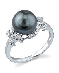 the pearls wedding band wedding rings ideas fleur de lis detail black pearl wedding rings