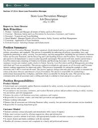 Cashier Responsibilities For Resume Loss Prevention Duties Resume Resume For Your Job Application