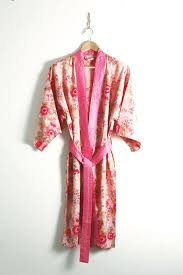 dressing gown cotton kimono dressing gown floral print by caro london