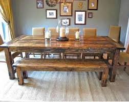 Harvest Dining Room Table Farmhouse Table Etsy