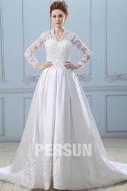 robe de mariã e avec dentelle robe de mariée dentelle décolleté en v avec manches longues