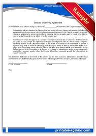 doc 460595 sample of indemnity form u2013 indemnity agreement