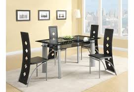 Dining Room Modern Elegant Dining Table With Black Glass Tabletop Glass Top Dining Room Tables Rectangular