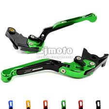 new green motorcycle adjustable cnc aluminum brakes clutch levers