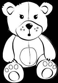 teddy bear black and white brown bear black and white clipart 2