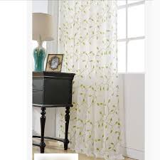 great green leaf sheer panel curtains for living room buy green