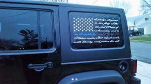 american flag truck i pledge allegiance american flag decal american flag