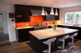 modern red kitchen cabinet orange kitchen ideas kitchen white and