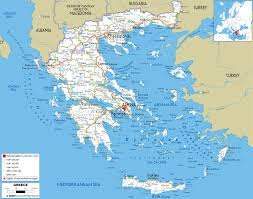 Map Of Africa With Capitals by Maps Of Greek Islands And Athens The Capital Of Greece Greece Is