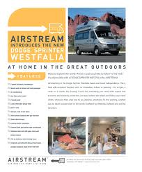2006 airstream dodge sprinter westfalia brochure rv literature