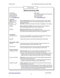 Curriculum Vitae Resume Sample by Resumes And Cvs Career Resources For Students Career