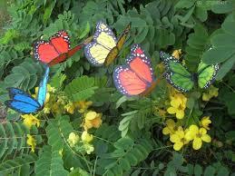 88pcs lot 12cm vivid wiggling pvc butterfly w metal stem home