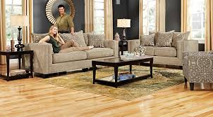 Rooms To Go Living Room Set Cindy Crawford Home Sidney Road Taupe 5 Pc Living Room Living