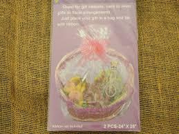 gift plastic wrap premium heavy duty pre cut pvc basket gift plastic wrap bags large