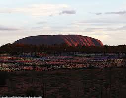field of light uluru ayers rock artwork made from lights transforming the outback around
