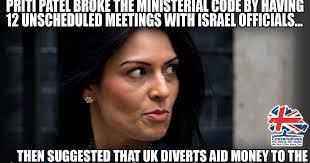 Patel Meme - aangirfan priti patel friend of israel