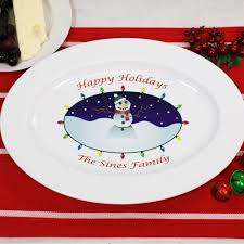 personalized serving platter ceramic personalized ceramic snowman platter giftsforyounow