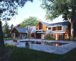 hybrid timber frame structure villa house country style home
